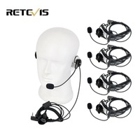 5PCS 2 Pin Mic Finger PTT Headset For Kenwood For Baofeng UV5R 888s For HYT Walkie Talkie Accesscories CB Radio C9029A