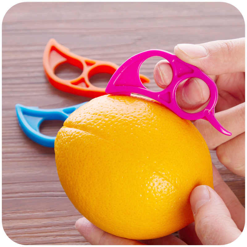1 Pcs Kreatif Orange Peelers Zesters Lemon Alat Pemotong Buah Stripper Mudah Pembuka Jeruk Pisau Dapur Gadget