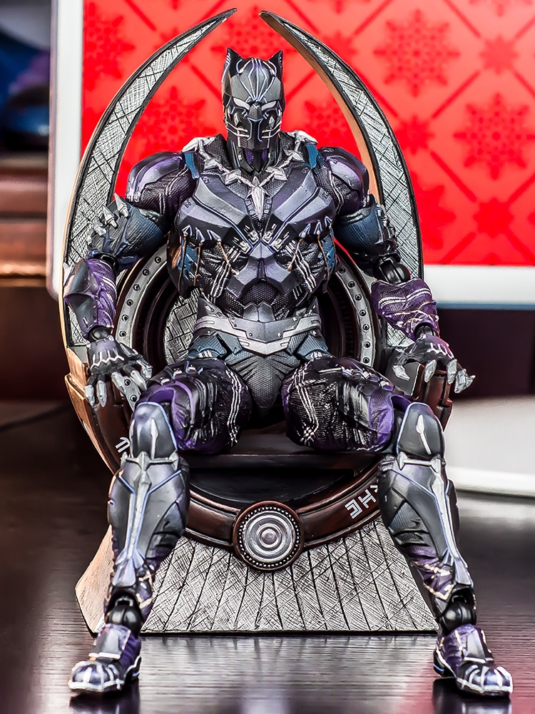 """9""""Marvel Wakanda Legends Avengers Infinity War Black Panther Movie Throne Seat Action Figure Toy"""