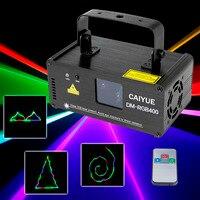 Профессия лазерный RGB свет диско шар этапе освещения перемещающаяся головка DMX512 проектор Красный цвет зеленый, синий с дистанционного Dj для