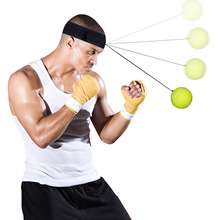 with Headband Rope Tennis Ball for Men Women Children Reaction speed training Flexibility training Sports Fitness Boxing Ball