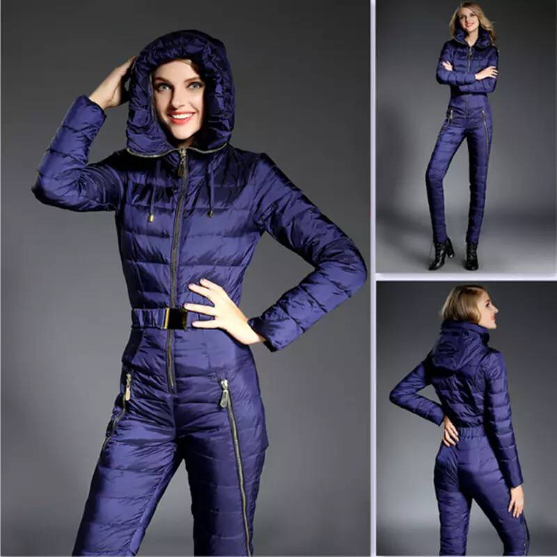 2019 New  Winter Clothing Set Outerwear High Quality Ski Suit Women Skiing Jackets +Pants Outdoor Ski Suits Free Shipping