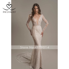Swanskirt Wedding Dress 2019 customized plus Size