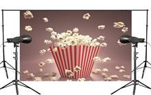 Exquisite Background Popcorn from the Box Pop out Sprinkled on Ground Kids Studio Photography 150x210cm