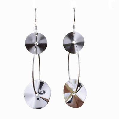 Solid 925 Sterling Silver Earrings Lotus Leaves
