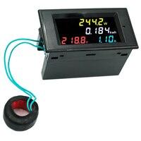 4IN1 180 graden Vlekkeloze panel kleurrijke LED scherm Voltmeter ampèremeter energiemeter actieve power AC 80-300 V 100A 39% off