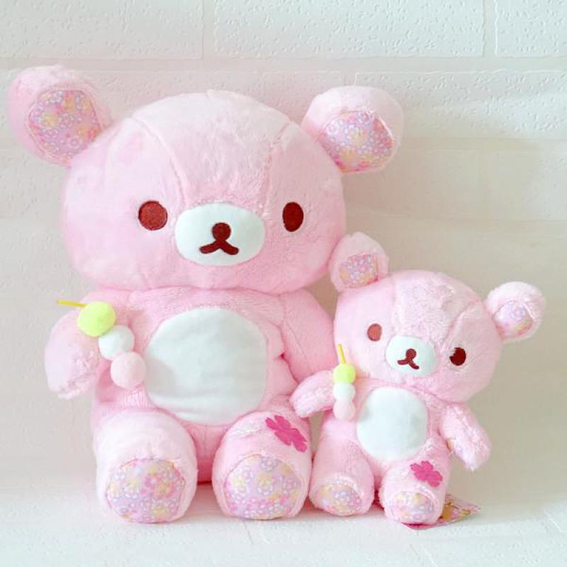 Cute Big Sakura Pink Bear Plush toy Dolls Rilakkuma Sloth Bears Soft Stuffed Animals Doll Baby Kids Pillow Girls Birthday Gifts cute large toy big size 1pcs 100cm sheep plush toy alpaca doll soft stuffed animals pillow cushion kids toy girls birthday gifts