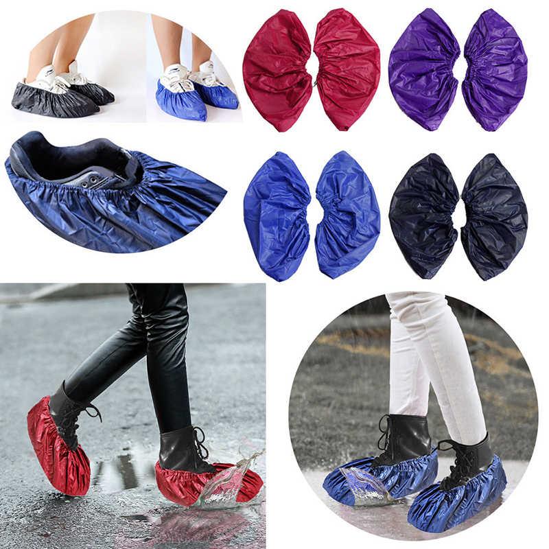2018 Venda Quente Sapatos de Inicialização de Armazenamento Reutilizável Dias Úteis Saco de Sapatos Unissex Sapato Chuva Cobre Chuva À Prova D' Água Anti-slip sapatos
