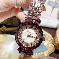 Лидирующий бренд 2019 Роскошные Алмаз наручные ручной Кристалл Мода кварцевые часы для женщин Стильные дамы обувь для девочек