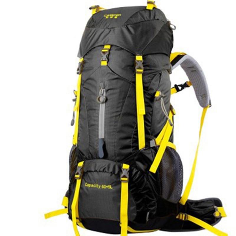 65L waterproof sport Unisex climbing bags outdoor travel Camping backpack Unisex bags Rucksacks Metal frame climbing backpacks