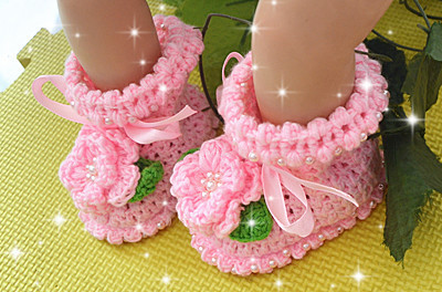 Handmade Pear Wool Baby Shoes Lace Openwork Hook Flower Knit Baby Shoes baby moccasins zapatillas first walkers tenis