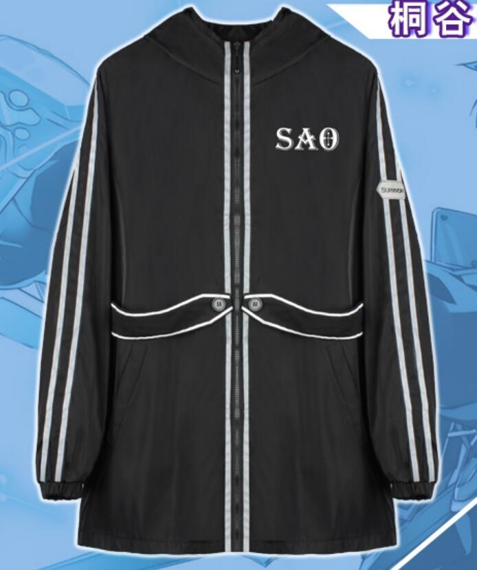 New Sword art online kirito Ordinal Scale OS long stretch coat hoodie hooded autumn thin anime  jakcet