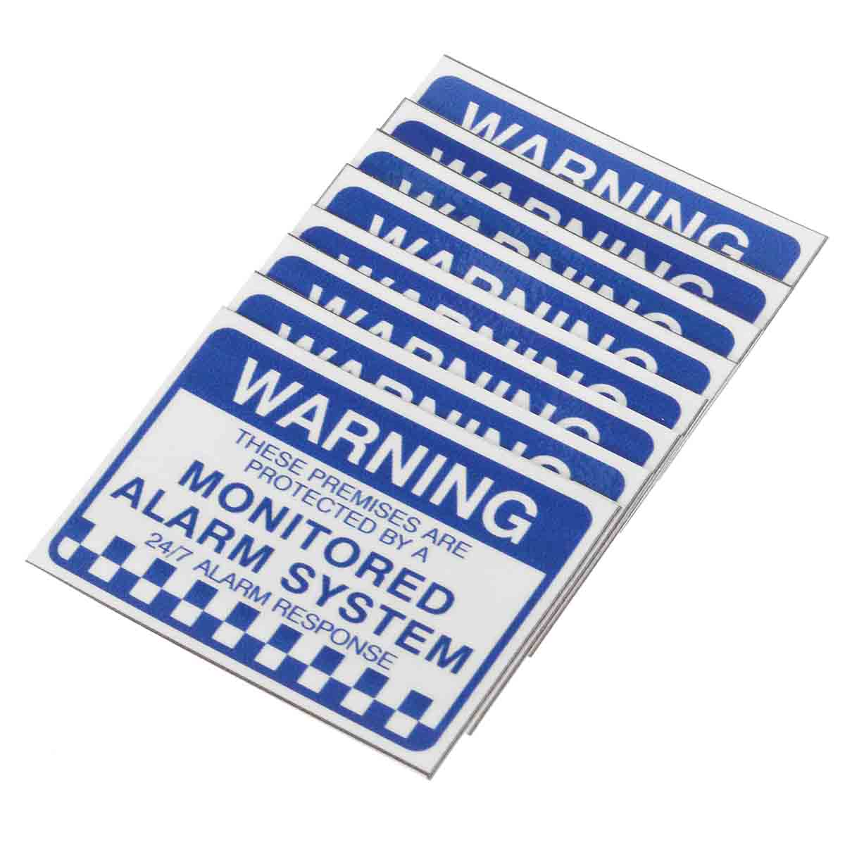 NEW Safurance 8x Alarm System Monitored Warning Security Stickers Waterproof Security Sign Home Safety