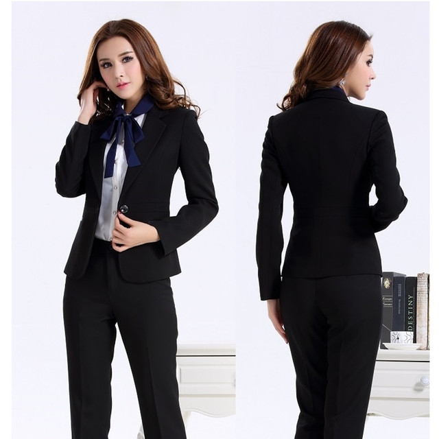 Custom Made Women Suit Dress Black Women Ladies Business Office