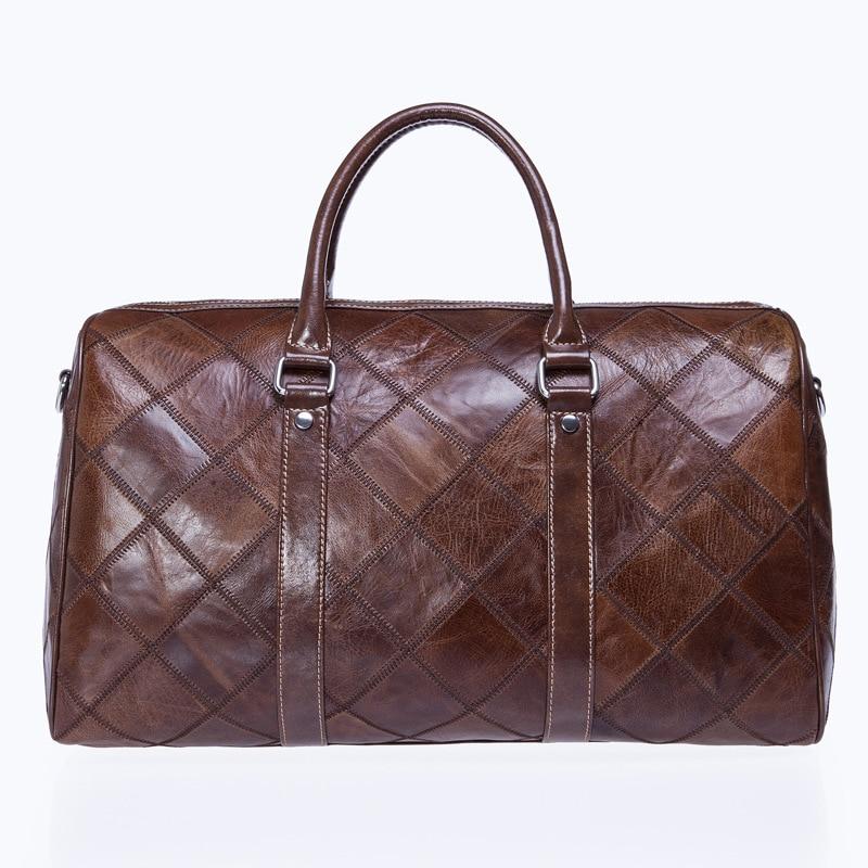 New European Style Design Genuine Cow Leather Travel Bag Duffle Unisex Handbag Shoulder Bag Messenger Bags Men&Women