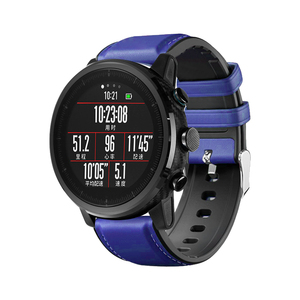 Image 4 - 22mm Watchband For Huawei Watch GT Strap Silicone Leather Bracelet For Xiaomi Amazfit Stratos/Pace For Samsung Galaxy Watch 46mm