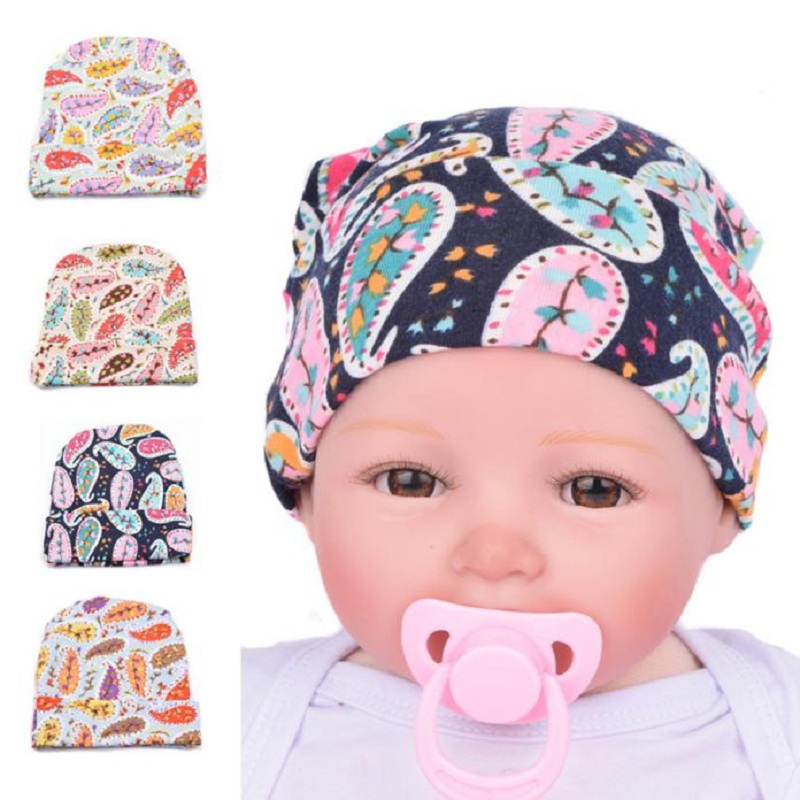 Newborn Hospital Caps Newborn Baby Hats With Flower Flower Hat Beautiful Colourful Baby Beanie Hats Baby Cap Gorro Infantil
