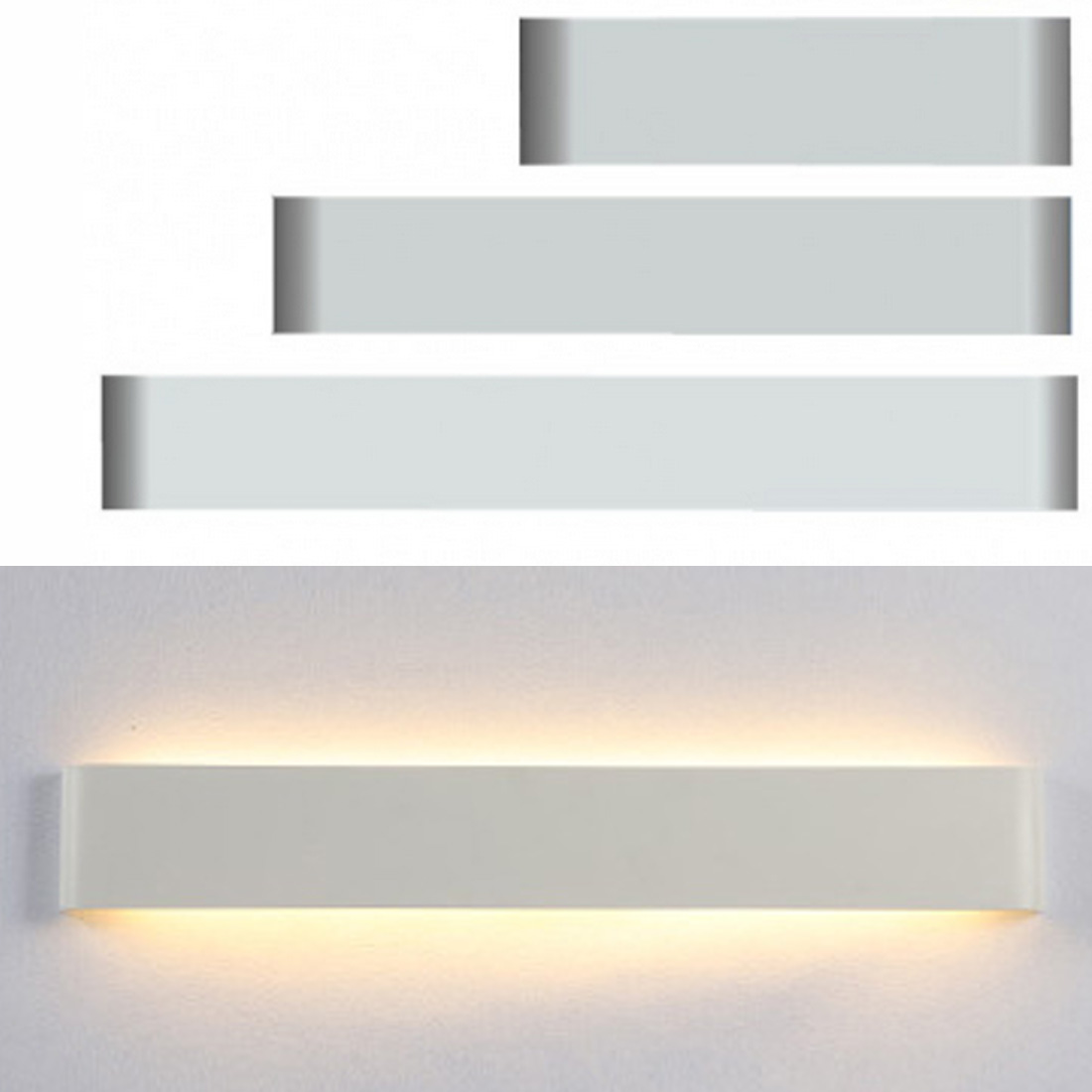 Silver/Black Modern Minimalist LED Aluminum Lamp Bedside Lamp Wall Lamp for Room Bathroom Mirror Light Direct Creative Aisle modern minimalist waterproof antifog aluminum acryl long led mirror light for bathroom cabinet aisle wall lamp 35 48 61cm 1134