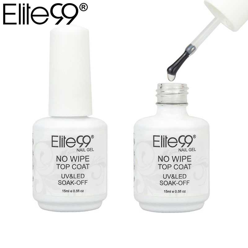 Elite99 Geen Veeg Top Coat Voor Uv Led Gel Polish Nail Art Sealer Geen Plakkerige Laag Manicure 15Ml Uv top Jas Sealer Gel Polish