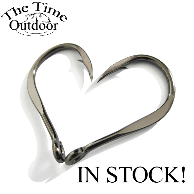 The Time High Quality Bulk Sharpened Fishing Hooks Patent Chinu Ring Forged High Carbon Steel Hook Fishing Wholesale 100 pcs/lot(China)