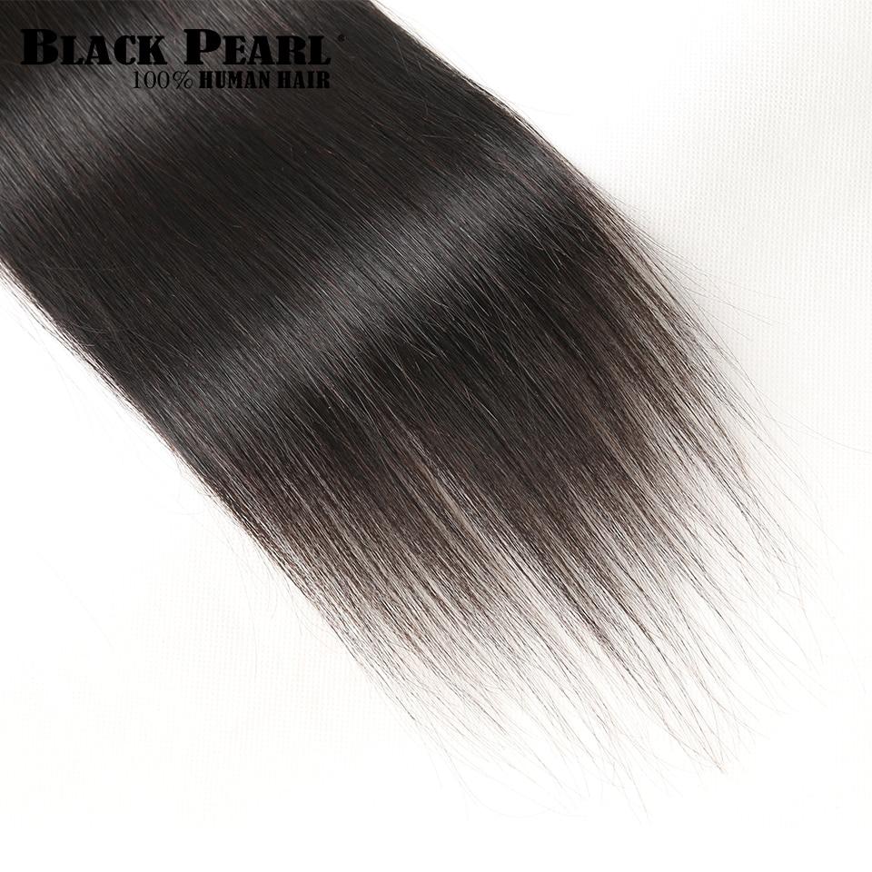 HTB1K871jZLJ8KJjy0Fnq6AFDpXaU Black Pearl Pre-Colored 3 Bundles with Closure Straight Human Hair Bundles with Closure Brazilian Hair Weave Bundles