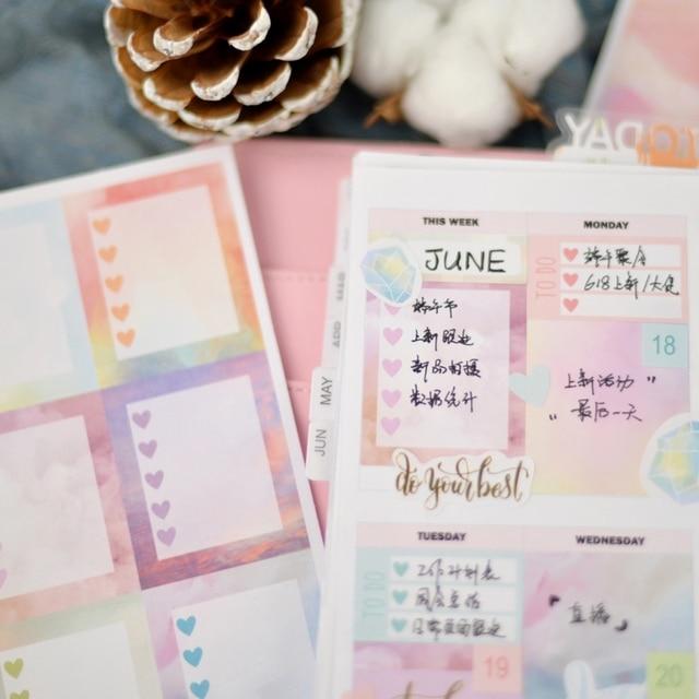 Lovedoki 2020 Beautiful Clouds Sticker Notebook Planner Decorativ Bullet Journal Stickers Japanese Stationery School Supplies 4