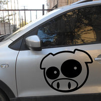 2X 2017 hot car styling 2X Mad Pig Mascot Rally Funny Car Sticker For Cars Door Side Truck Window Rear Windshield Vinyl JDM