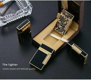 Image 2 - Электронная зажигалка Kuboy Ping, газовая, надувная, для сигарет, многоразовая, шлифовальная, пожарная зажигалка