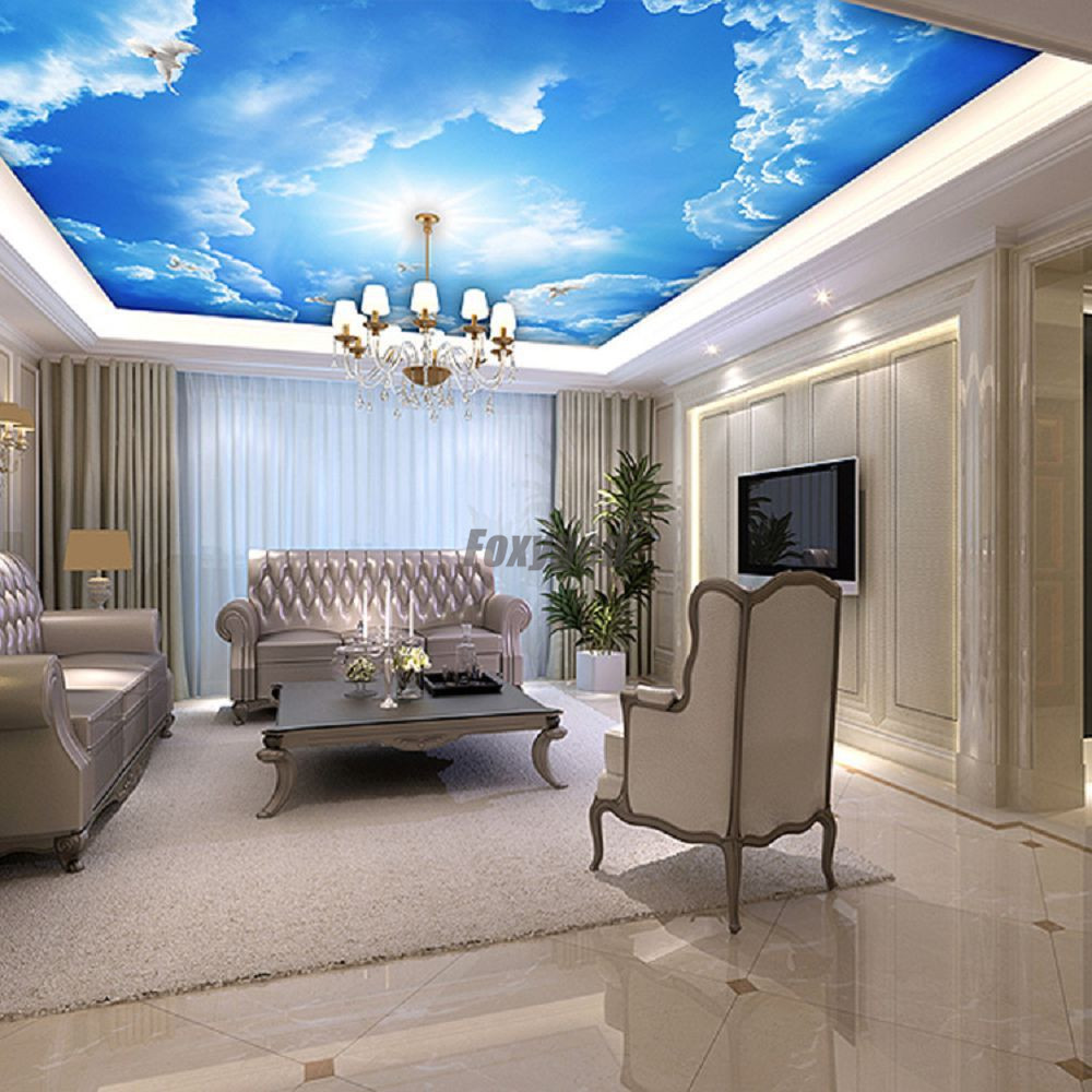 Us 90 0 Simple Pop Ceiling De Digital Printed And Uv Printing False And Suspended Ceiling Pop Ceiling Pvc Stretch Ceiling Panel Design In Wallpapers
