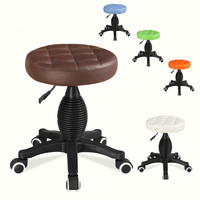 High quality barber chair high density sponge swivel bar stool lift PU salon chair barbershop salon furniture commercial