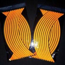 "16Pcs 17*18"" Strips Motorcycle Car Wheel Tire Stickers Reflective Rim Tape Motorbike Auto Decals Universal Creative Sticker"