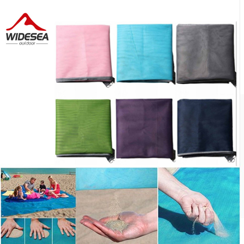 Widesea sandbeach mat camping mat sand free mat 1.5M*2M 2M*2M easy to clean up the sand HOT SALE new design