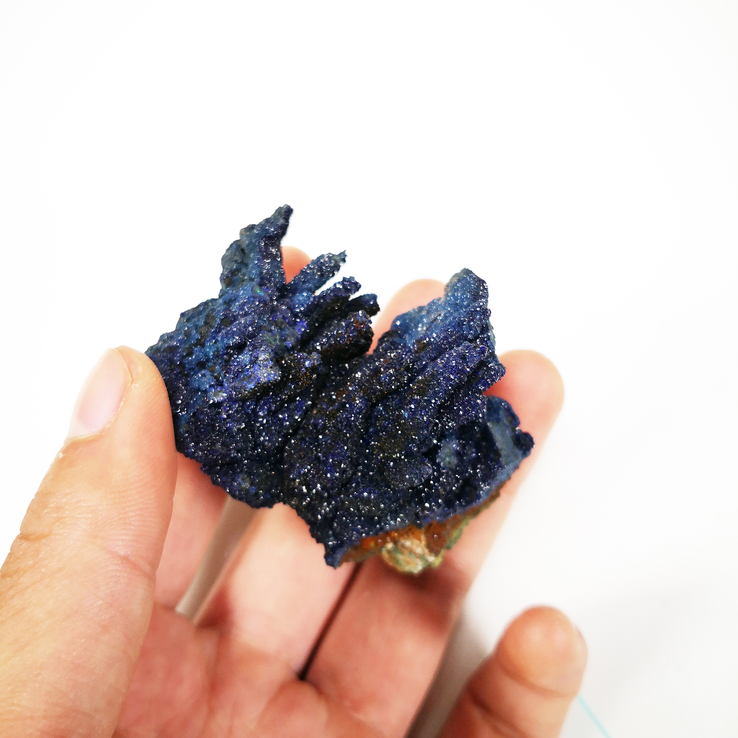 91g NATURAL Stones and Minerals Rock AZURITE SPECIMEN CRYSTAL RARE ORE UNIQUE Specimens LAOS C1 44