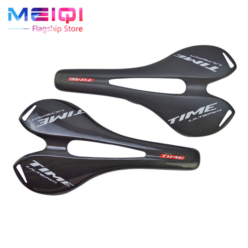 2017 TIME Carbon Fiber Bicycle Carbon Saddle Road/MTB Mountain Cycling Bike Carbon Fiber Seat Saddle Cushion 3k Gloosy/Matte cycling saddle saddle road bike mtb saddle superlight carbon saddles bicycle seat sillin bici rail bow cushion 3k matte 303 135m