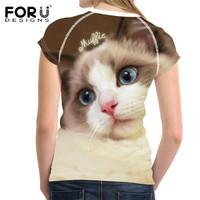 FORUDESIGNS-Kawaii-Ragdoll-Cat-Print-Casual-Women-T-Shirts-Summer-Breathable-Tops-Clothing-Novelty-Bodybuilding-Tee-Shirts-Lady-1