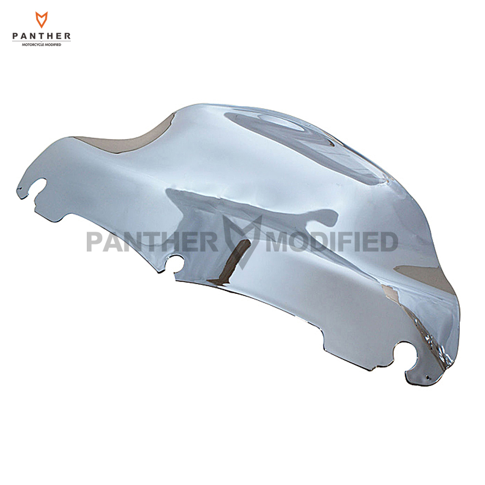 Chrome 9 Motorcycle Front Wave Windshield Fairing Moto Windscreen case for Harley FLHT FLHX Touring 2014 2015 2016