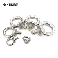 QINTIDES M24 M27 Lifting eye nuts and Eye bolts Stainless steel Ring eyebolt Ring nut