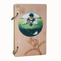 Giftgarden GOLF CD Case DVD Holder Organizer 48 Capacity Disc Storage Cases With Wood Frame Cover