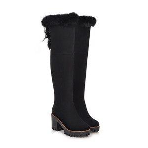 Image 2 - MORAZORA 2020 ฤดูหนาวรองเท้าผู้หญิงรองเท้าส้นสูงรองเท้าผู้หญิงอุ่นเข่ารองเท้าผู้หญิงรองเท้าบู๊ตหิมะ