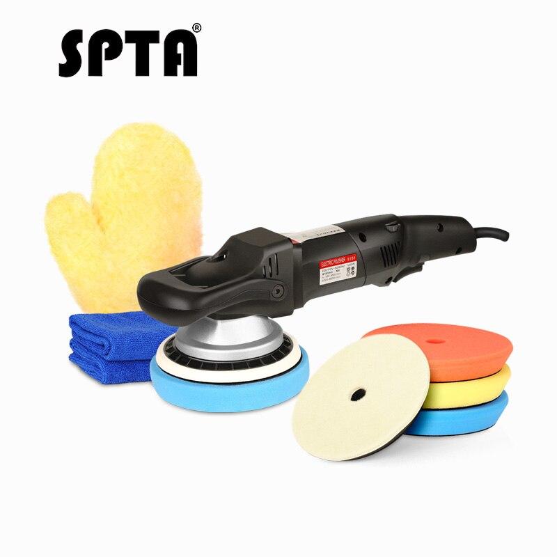 SPTA 6 дюймов принудительное вращение полировщик двойного действия, средство для полировки Da автомобиля полировщик и полировальные колодки