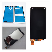 JIEYER 4.6'' display For Sony Z3 Compact Mini D5803 D5833 LCD Display Touch Screen Digitizer Assembly Replacement Part screen for sony xperia z3 compact lcd touch display d5803 d5833 digitizer frame for sony z3 mini screen replacement adhesive