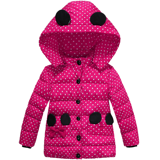Baby Girl's Jackets Winter Jackets Parkas For Kids Children's Clothing Hoody Outerwear Coat Cotton Thicken Suit 2016 CC246-CGR2