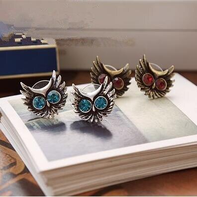 Hot Fashion European and American popular retro big eyes owls