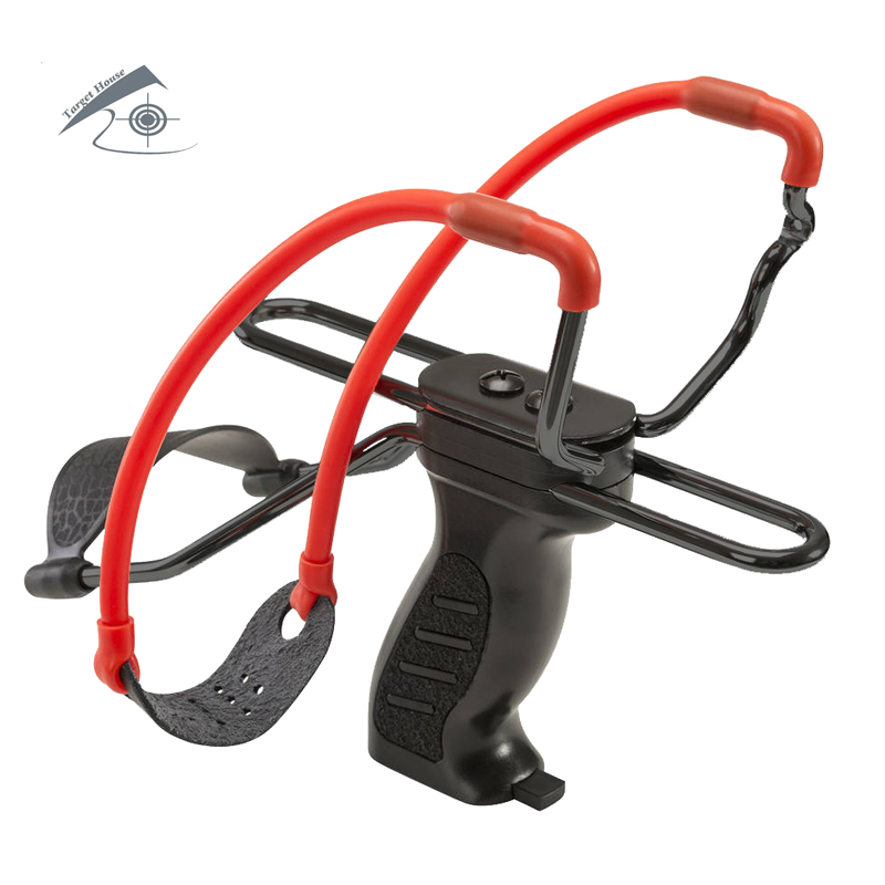 Slingshot With Wrist Brace Support and Ammo Holder for Hunting and Shooting.