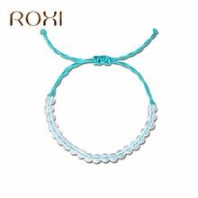 ROXI 4 Ocean Natural Crystal Beads Bracelets for Women Men Handmade Boho Friendship Bracelet Male Jewelry armbanden voor vrouwen