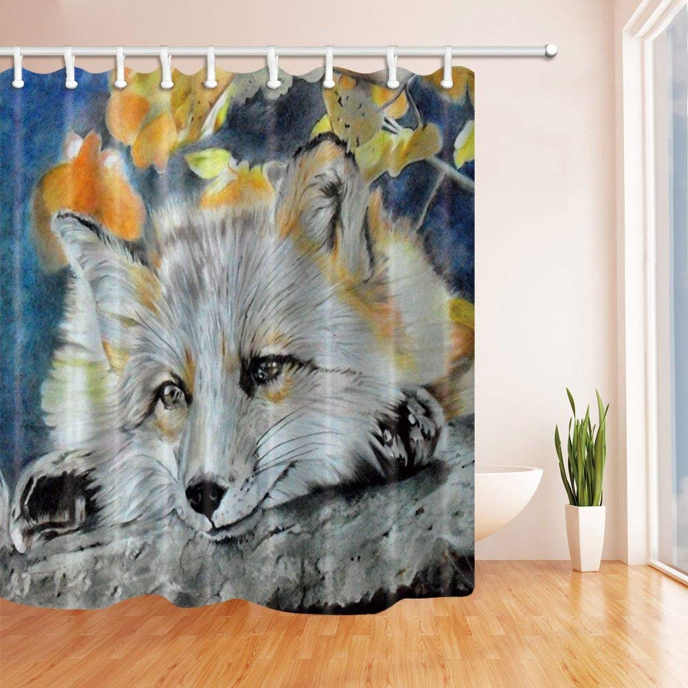 Shower Curtains Home & Garden Personality Bulb Fish Pattern Theme Shower Curtain Bulb Fish Jar Yellow Goldfish Jumping From Blue Water Silver Gray Background