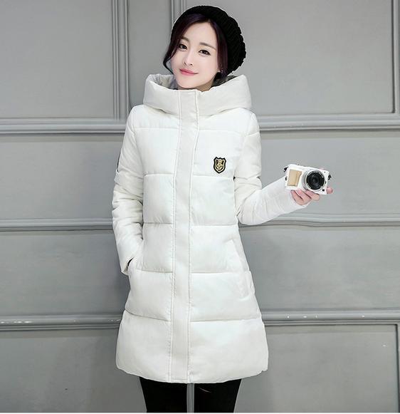 Women   Basic     Jacket   Coat 2017 New Batik Fabric Girls Long   Jacket   Solid Thick Coat Fall Winter   jackets   Parka 102150