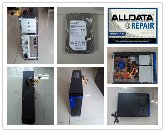 auto repair software alldata 10.53 and mitchell on demand installed version hdd 1tb 4g computer desktop ready to use
