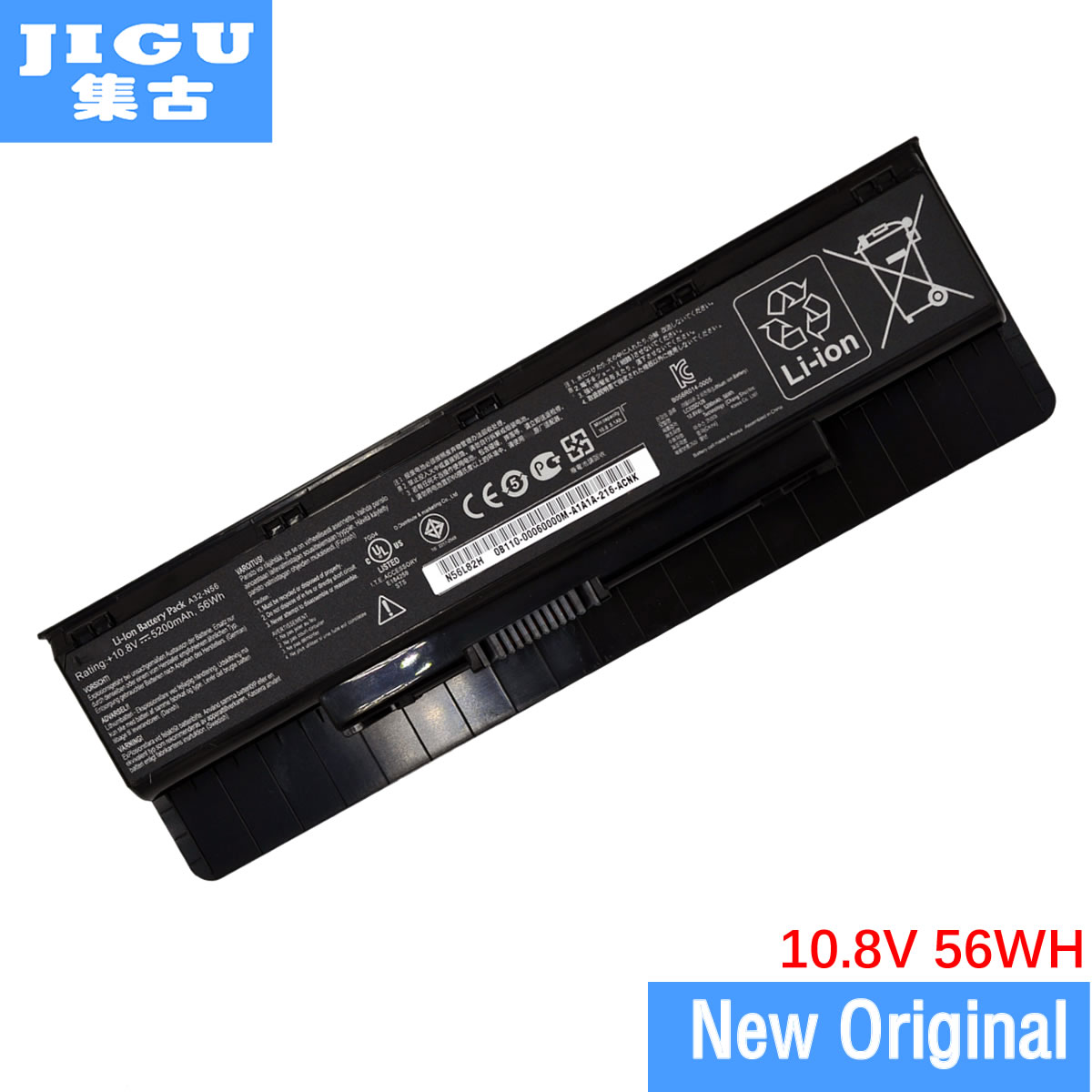JIGU laptop battery 0B110-00060000 A31-N56 A32-N46 A32-N56 A33-N56 FOR ASUS G56JK G56JR N46 N46VJ N46VM N46VZ N56 N56D N56DP все цены