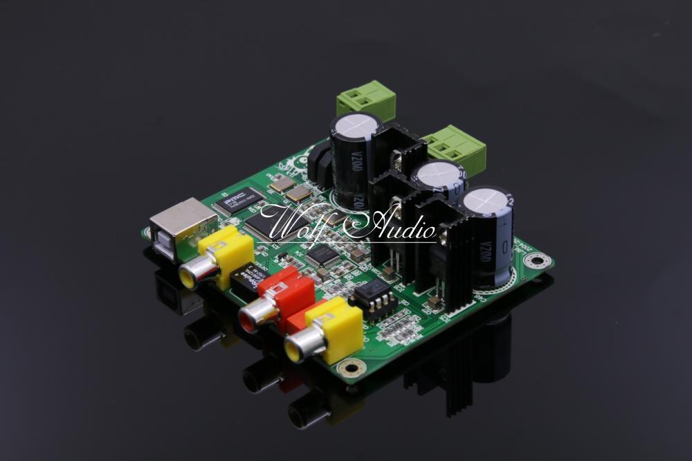 LJM Audio Assembly 32BIT384K USB DAC Decode Board CM6631A AKM4490 DAC 32 384K